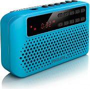PHILIPS Radio portatile Digiale FM Display LED Mp3 AUX USB Col Blu AEM120BLU