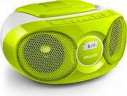 PHILIPS Radio Stereo Portatile Boombox Lettore CD Radio FM 3W Verde AZ215G12