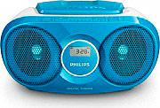 PHILIPS Radio Stereo Portatile Boombox Lettore CD Radio FM 3W col Blu AZ215N12