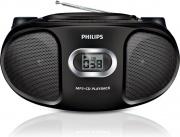 PHILIPS Radio Stereo Portatile Boombox Ghetto Blaster CD Mp3 Aux Nero AZ 30512