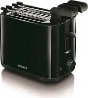 PHILIPS Tostapane per Toast 2 Fette 800W Fondo raccoglibriciole - HD259790