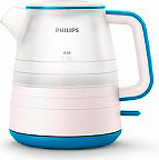 Philips HD934410 Bollitore elettrico Cordless 1 Lt 2000 W Bianco  Blu