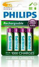 PHILIPS Batterie Ricaricabili 4 Pile Stilo AA 2100mAh - R6B4A21010