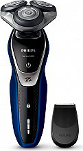 PHILIPS S557206 Rasoio elettrico Ricaricabile Wet&Dry  fast Shave Series 5000