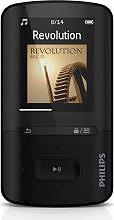 """PHILIPS Lettore Mp3 Mp4 8gb Display LCD 1,8"""" USB col Nero GoGEAR SA4VBE08KN"""