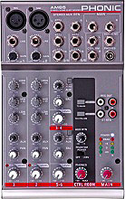PHONIC Mixer Audio 2 miclinea + 4 stereo 20-20000 Hz 90dB RCA - AM 85