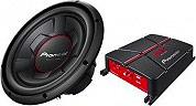 Pioneer GXT-3706B Amplificatore Audio Auto + Subwoofer Passivo 350W