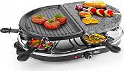PRINCESS Raclette Elettrica Barbecue 2 Piastre 8 padellini Gourmette & Stone Grill