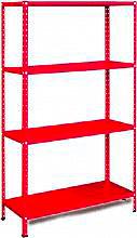 PROMETAL Scaffale Metallo Scaffalatura 4 ripiani cm. 80x30x150 h Rosso