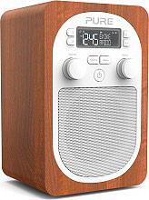 PURE 147999 Radio Portatilea Batteria ingresso AUX Radio DAB eFM Legno EVOKE H2