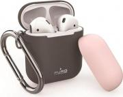 PURO APCASE1DKGREY Custodia per airpods Cover in silicone colore Grigio