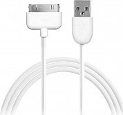 PURO Cavo adattatore da USB 2.0 a 30-pin maschiomaschio 1 m Bianco CAPPLE1WHI