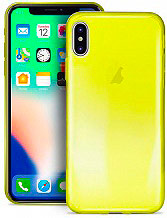 PURO Cover Custodia a Guscio Smartphone Apple iPhone X Giallo - IPCX03NUDEYEL
