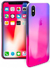 PURO Cover Custodia a Guscio Smartphone Apple iPhone X IPCXHOLOCRYPNK