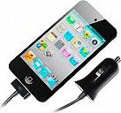 PURO MCHAPPLEBLK Mini Caricabatteria Auto Accendisigari iPhone 4S Nero