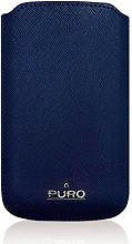 PURO Cover Custodia per Telefoni Cellulari e Smartphone Blu - PCSLIMBLUEXL
