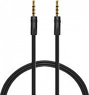 PURO P-CABLEM1MT-BLK Cavo Audio Piatto MaschioMaschio Jack 3,5mm 1 m