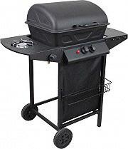 PYRAMIDEA Barbecue a Gas GPL Esterno 2 Bruciatori Griglia Acciaio Ruote BBQ2PL1