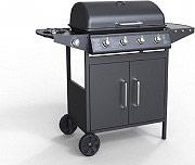 PYRAMIDEA Barbecue a Gas GPL Esterno 4 Bruciatori Griglia Acciaio Ruote BBQ4PL1