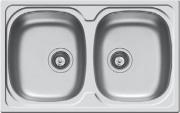 PYRAMIS 100132830 Lavello cucina 2 Vasche Incasso 79 cm Acciaio Inox  Sparta 2B