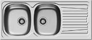PYRAMIS 100150630 Lavello cucina 2 Vasche 116 cm Acciaio Inox  Sparta 2B 1D