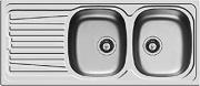 PYRAMIS 100150730 Lavello cucina 2 Vasche 116 cm Acciaio Inox  Sparta 2B 1D