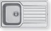 PYRAMIS 107168730 Lavello cucina 1 Vasca Incasso 86 cm Acciaio Inox  Fedra 1B 1D