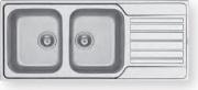 PYRAMIS 107169530 Lavello cucina 2 Vasche 116 cm Acciaio Inox  Fedra Extra 2B 1D