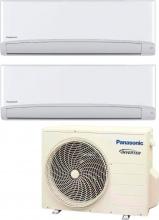 Panasonic 2xCS-TE35TKEW + CU-2RE18SBE Condizionatore Dual Split Inverter 12+12 Btu Serie TE - OUTLET