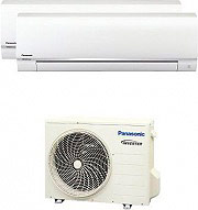 Panasonic Condizionatore Inverter Pompa Calore Dual Split 9+12 Btu CS-RE9RE12+CU2RE15