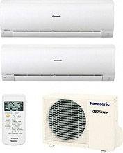 Panasonic Condizionatore Inverter Pompa Calore Dual Split 9+9 Btu CSRE9RKEW+CU2RE15SBE