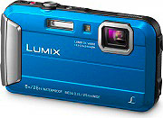 Panasonic Fotocamera Digitale 16,1Mpx CCD Zoom 4x digitale 4x Blu DMC-FT30EG-A