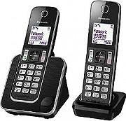 Panasonic Telefono cordless duo DECT 50 Voci rubrica Vivavoce KT-TGD312JTB