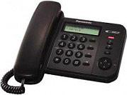 Panasonic KXTS560EX1B Telefono a filo con display LCD E 50 Memorie Nero