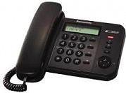 Panasonic Telefono a filo con display LCD E 50 Memorie Nero KXTS560EX1B