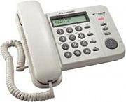 Panasonic Telefono a filo con display LCD E 50 Memorie Bianco KXTS560EX1B