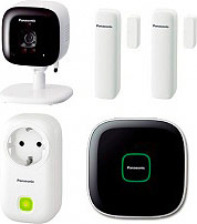 Panasonic KX-HN6012JTW Kit Videosorveglianza Wireless Hub Sensore Porta Smart Plug
