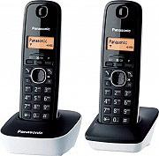 Panasonic Telefono cordless DUO DECT 50 Voci in rubrica Id Chiamate KX-TG1612JTW