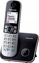 Panasonic Telefono Cordless DECT con Vivavoce col. Nero  Bianco KXTG6811JTB