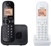 Panasonic KX-TGC212JT1 Telefono Cordless Duo 2 Telefoni con Base Nero + Bianco