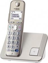 Panasonic KX-TGE210JTN Telefono Cordless DECT GAP Vivavoce Champagne KX-TGE210