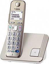 Panasonic Telefono Cordless DECT GAP Vivavoce Champagne KX-TGE210 - KX-TGE210JTN