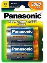 Panasonic P20PD 2B Batteria Ricaricabile 3000 mAh D confezione da 2