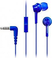 Panasonic RP-TCM115E-A Cuffie Stereo Auricolari Cuffie con Filo Microfono Blu