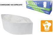 Paperlynen C032684 Copricapo a Bustina in Carta confezione 100 pezzi Bianco