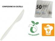 Paperlynen C038822 Coltello Bio in CPLA confezione 50 pezzi Bianco