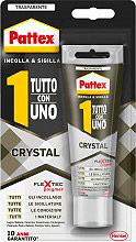 Pattex 2114326 Adesivo Sigillante Universale Trasparente 90 gr Tutto con Uno Crystal