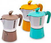 Pedrini 02CF029 Macchinetta caffé Moka 3 Tazze Alluminio Colori assortiti 02CF046