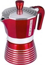 Pedrini 02CF115 Caffettiera 3 tazze Moka in Alluminio Rosso Passion -  Infinity