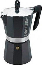 Pedrini 9111 Macchinetta caffé Moka 1 Tazza Aroma Color Alluminio Antracite